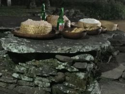 The offerings ready to serve to the ancestors